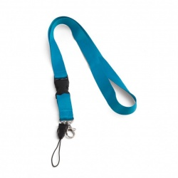 Lanyard with detachable clip, carabiner hook and