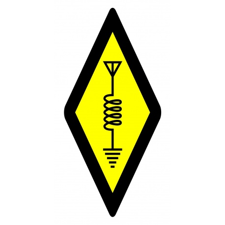 International Amateur Radio Sticker 4x8cm