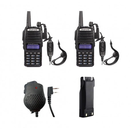 Pack 2x Baofeng UV-82 + mic + battery + USB cable Baofeng HT Handheld PACK-BAOFENG-SECURITE-UV82-361