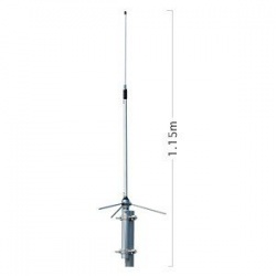 Antenna fixed genuine Diamond BC202, operates from 430 to
