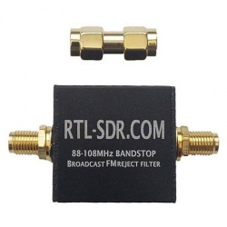 This band-cut filter is design by RTL-SDR.com, it blocks and