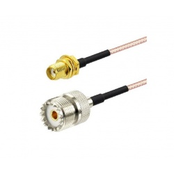 SMA female to UHF Female Adapter. RG 316 coaxial cable 50