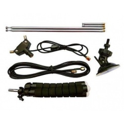 Telescopic dipole VHF-UHF antenna set for SDR