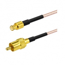 Pigtail MCX Male RCA Male 120cm (low loss) Passion Radio PANadapter cable PIGTAIL-MCX-M-RCA-M-684
