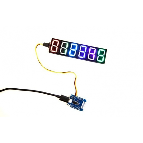 Programmable 7-digit LED display Neosegment Crowd Supply Goodies CROWD-NEOSEGMENT-686