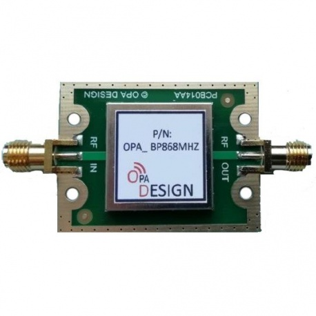 Bandpass SAW Filter 868 Mhz LoRa SigFox OPA Design ISM 433-868 Mhz FILTRE-SAW2-868-F1OPA-830