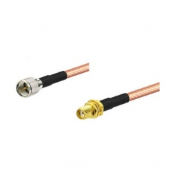 Pigtail SMA Female to Mini-UHF Male Passion Radio Mini-UHF PIGTAIL-SMA-F-MUHF-M-840