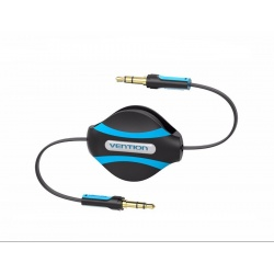 Flat Audio Jack 3.5mm Stereo Cable Retractable Vention