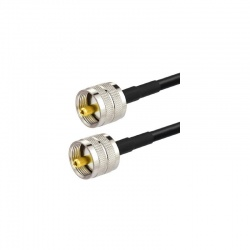 Coaxial cable low loss UHF Male (PL-259) KSR195 Passion Radio UHF CABLE-COAXIAL-UHF-M-1M-876
