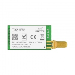This EBYTE E32 module is a 1W long range LoRa transceiver