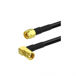 Coaxial cable low loss SMA Male angled & SMA straight