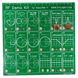 RF demo / test kit for NanoVNA vector analyzer antenna