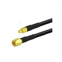 Cable coaxial 1 or 5m SMA-Male MCX-Male 50 ohms