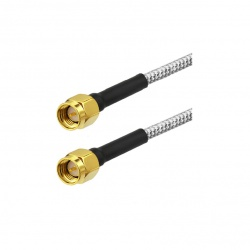 RG402 rigid coaxial cable with SMA Male - SMA Male very low loss Passion Radio SMA CABLE-COAX-RG402-SMA-M-10CM-989