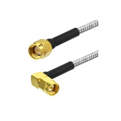 RG402 rigid coaxial with straight SMA Male and angled SMA Male Passion Radio SMA CABLE-RG402-SMA-COUDE1-990