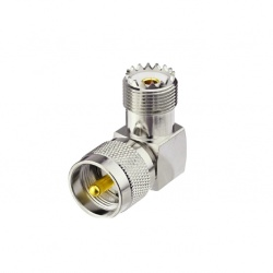 Adapter right angle UHF Male to UHF Female