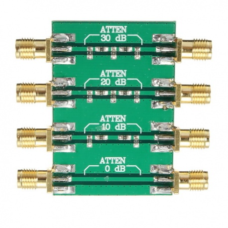 RF PCB attenuator from -10dB to -30dB max power. 200mW (23dBm) SDR accessory XLA-PCB-ATTENUATEUR-1011
