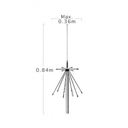 Super Discone Antenna 100-1500Mhz Diamond D-190 + cable