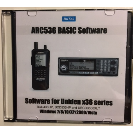 ARC536 CD software for UNIDEN UBCD3600XLT SDS100E and SDS200E