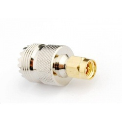 SMA Male UHF Female Adapter (SO-239) Passion Radio RF Cables & Adapters ADAPT-SMA-M-UHF-F-67