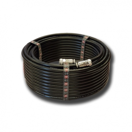 M&P 10.3mm coaxial cable with UHF-Male connector (PL-259) HYPERFLEX 10