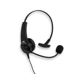 Headset with remote microphone and PTT compatible with Motorola 2 pins
