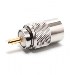 PL male 6mm for coaxial RG-58