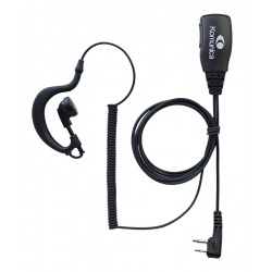 Micro-earphone compatible with YAESU / MIDLAND / MAXON 2 pin