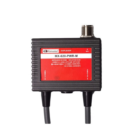 Duplexer 1.6-56 & 140-470MHz, with cable