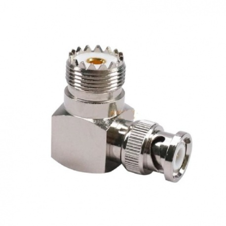 BNC Male to UHF Female right angle connector adapter