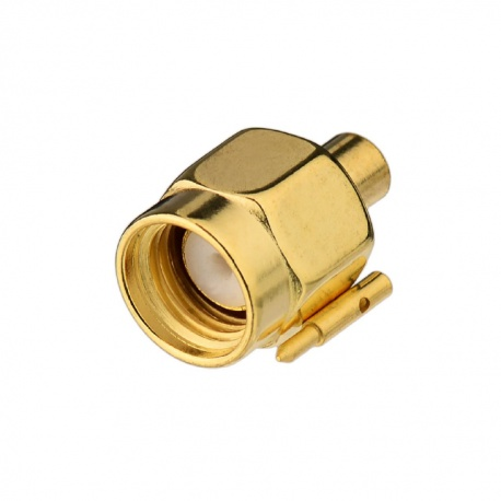 SMA Male connector adapter for 2.18 mm RG405 semi-rigid cable