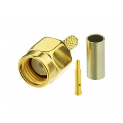 SMA Male connector adapter for RG316 - RG174 - LMR100 cable