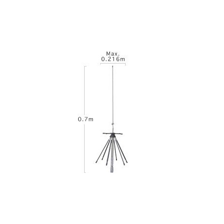 Diamond D200R Discone mobile Antenna 100Mhz to 1.6Ghz Diamond Antenna Wide-band DIAMOND-D220R-120