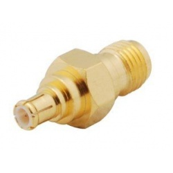 RF adapter MCX male SMA Female
