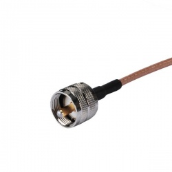 MCX Male to UHF Male RF Adapter. RG 316 coaxial cable 50